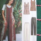 Uncut Sewing Pattern 8213 Long or Short Split Vent Vest Top Elastic Shorts Pants 12 14 16