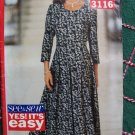 New Sewing Pattern 3116 Misses Flared Fitted Dress 3/4 Sleeves 6 8 10 12 14