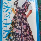 Uncut Sewing Pattern 4792 Flared Skirt Scoop Neck Jumper Dress & Top 12 14 16