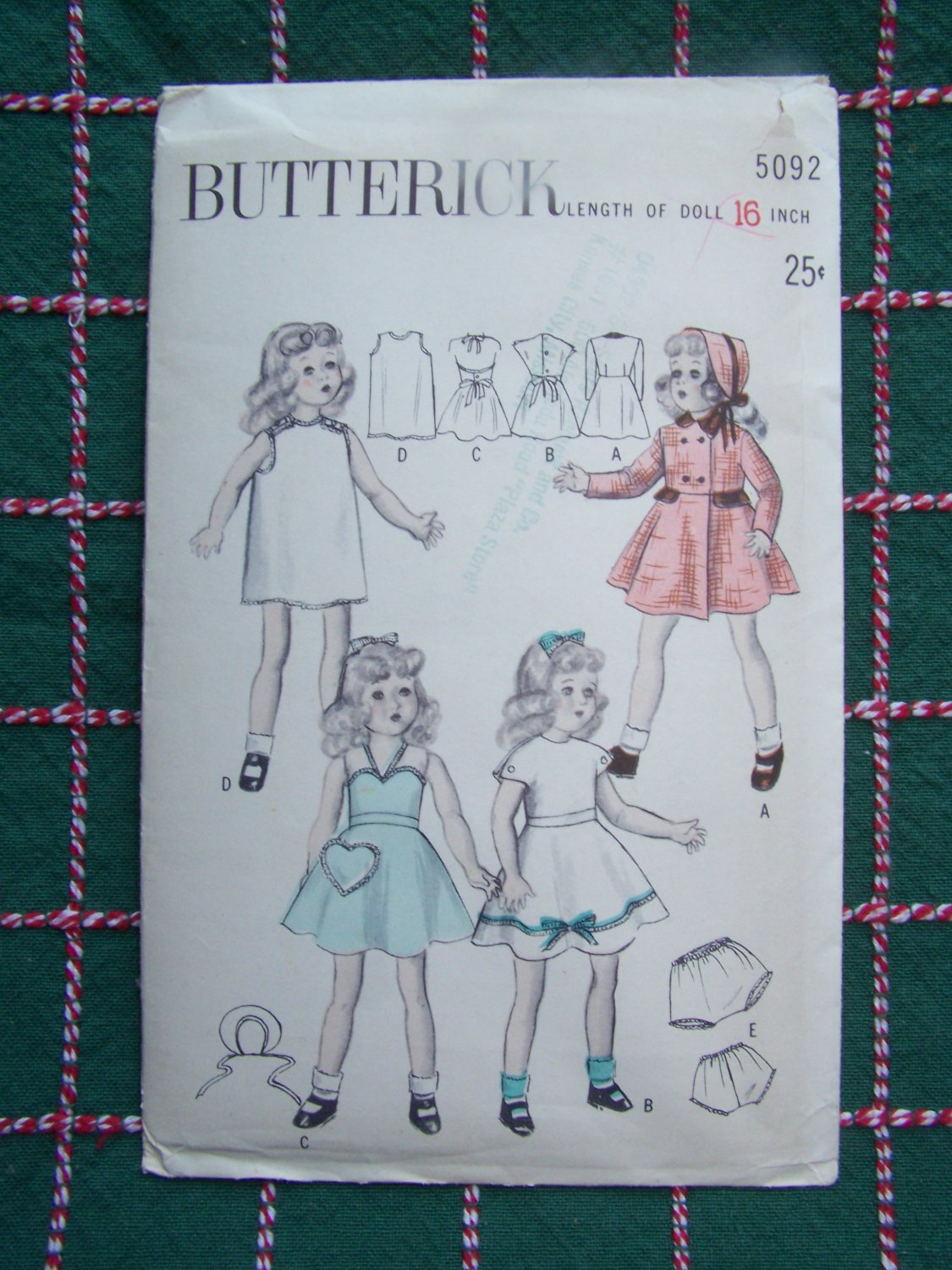 Uncut Vintage Butterick Sewing Pattern 5092 Doll Clothing 16 Over 60 Dolls Patterns Listed