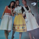 Vintage Spinnerin Crochet Hippie Patterns Misses Sundress Skirt Jumper Dress S M L