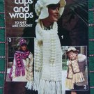 Vintage Knitting and Crochet Patterns Puff Hats Floppy Caps Scarf Wraps Leaflet 79