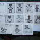 Vintage Lot of 10 Annies Pattern Club Crochet Patterns Hug A Bears Stuffed Animals