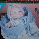 "Free USA S&H Vintage Doll Clothing Sewing Pattern 17"" Baby Bye Lo Bunting Saque Hat DPP106"