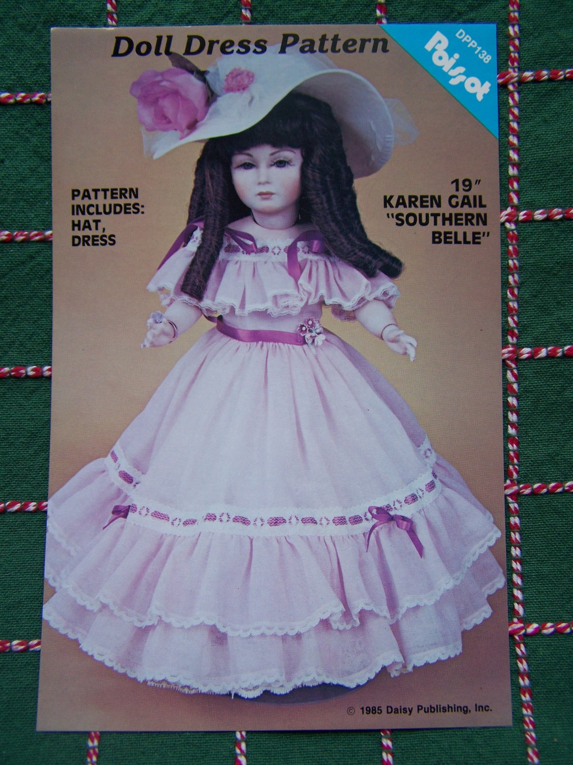 "S&H FREE USA New Vintage 19"" Karen Gail Southern Belle Gown & Hat Sewing Pattern"