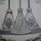 Free USA S&H Shadow Applique Sewing Patterns 3 Broom Covers Folk Art Victorian Country Basket