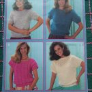 4 Vintage Misses Knitting Patterns Short Sleeve Pullover Sweater Tops 427