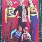 1970's Vintage Jack Frost Hippie Vest Tops Knitting & Crochet Patterns