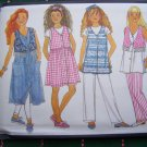 New Girls 7 8 10 Sewing Pattern 3965 Dress w/ Dirndl Skirt Vest Top Elastic Waist Pants