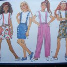 USA 1 Cent S&H Girls Easy Sewing Pattern Straight or A Line Skirt Shorts Pants Knit T Shirt Top