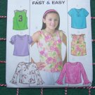 USA 1 Cent S&H Uncut Girls Sewing Pattern 12 14 16 Easy Tops Sleeveless Short Long Sleeve 4177