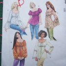 USA Free S&H Uncut Sewing Pattern 5050 Retro Tunic Tops Boho Gypsy Romantic Shirts Misses L XL