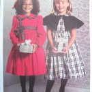 USA Free S&H  New Ruffles & Lace Girls Sewing Pattern 4999 Christmas Dress & Capelet 2 3 4 5