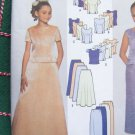 New Girls Sewing Pattern 7041 2 Piece Dress Long Maxi Skirt Slim or Flared Fishtail 7 8 10 12 14