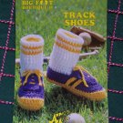 Free USA S&H Vintage Annie's Attic Crochet Pattern Track Shoes Adult & Kids Sizes