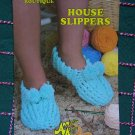 S&H Free USA Vintage Crochet House Slippers Pattern Annie's Big Foot Boutique 433