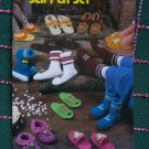 USA Free S&H Vintage Annies Attic Crochet Patterns Book SLippers SLipper Socks Scuffs