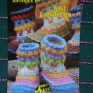 S&H 0 USA Vintage Annie's Crochet Pattern Ski Boots Adult & Kid Sizes 445 Big Foot