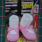 Vintage Annie's Attic Crochet Pattern Dress Shoes Womens & Child's Sizes Big Foot Boutique 435