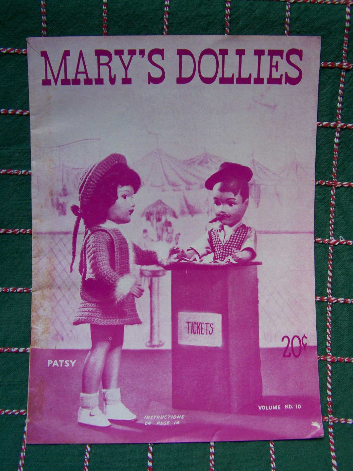 1940's Mary's Dollies Mary Hoyer Knitting Patterns # 10 Vintage Original