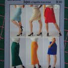 Vintage Patons Knit and Crochet Skirt Patterns Short or Maxi Length S M L