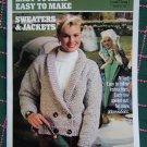 Vintage Knitting Crochet Coats & Clark Easy to Read Sweaters & Jackets Book 100