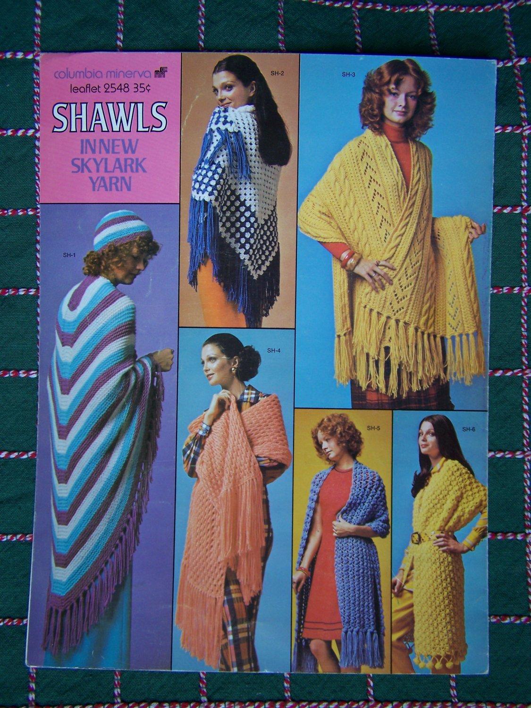 1970's Hippie Knitting & Crochet Patterns Shawls Wraps Jackets