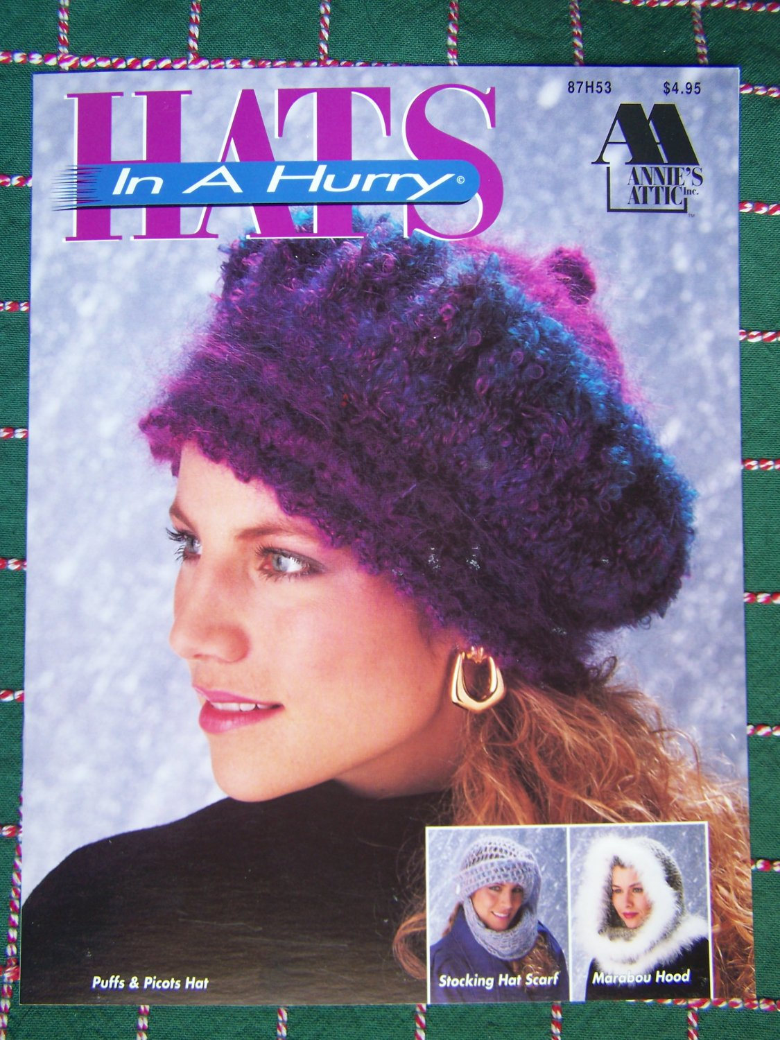 Vintage Annie's Hats in A Hurry Crochet Patterns 87H53
