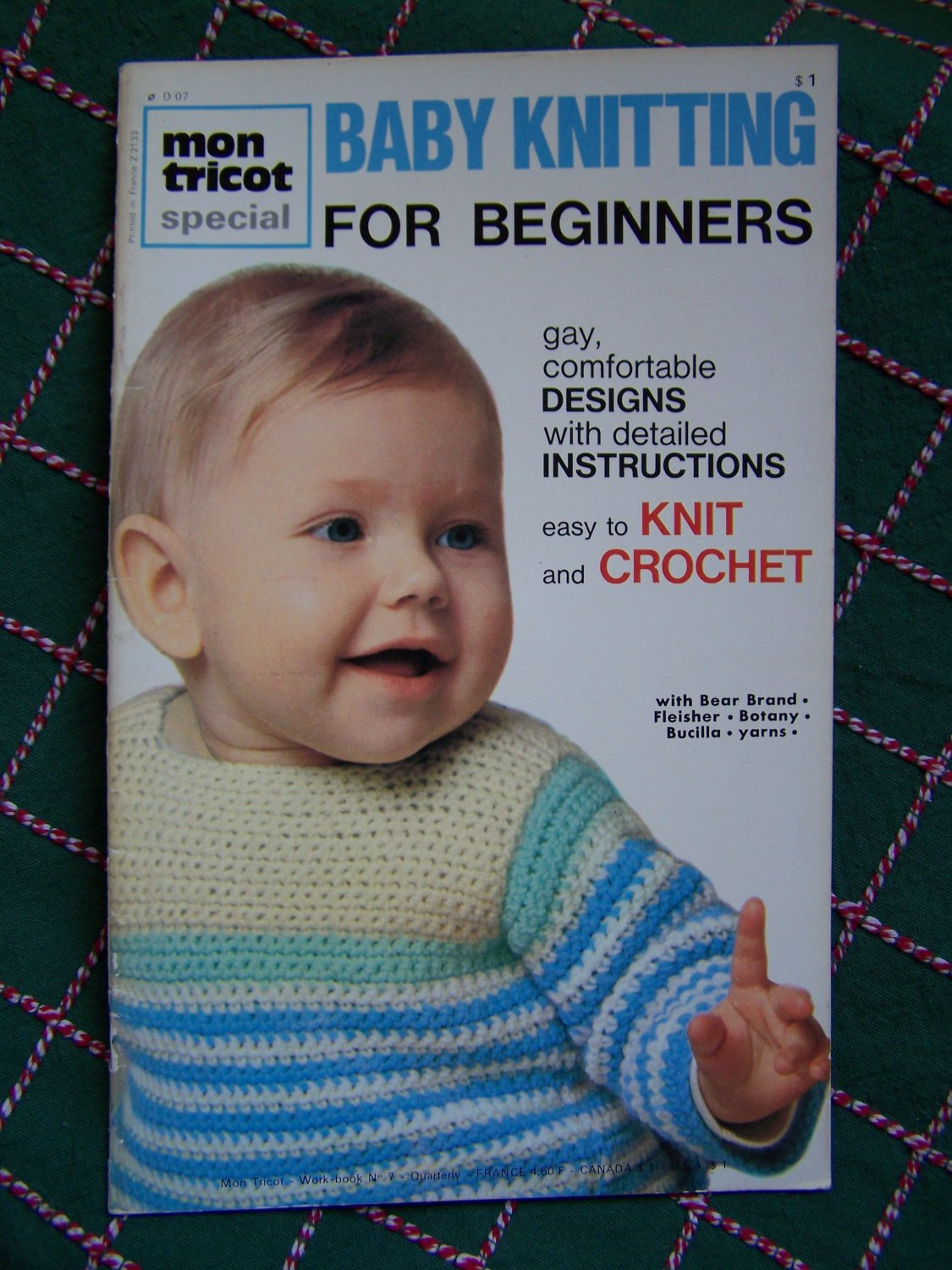 Vintage Mon Tricot Baby Knitting Patterns for Beginners Easy Knit & Crochet