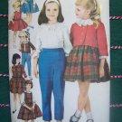 New 1960s Vintage Sewing Pattern 3038 Girls 7 Day Wardrobe Jumper Dress Tops Pants