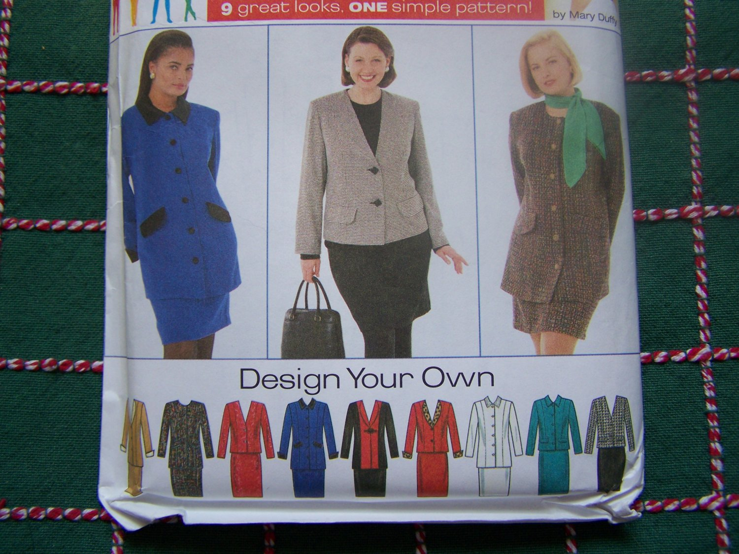 0 USA S&H New Womens Sewing Pattern 7292 Plus Size Lined Suit Skirt & Jacket 26 -32