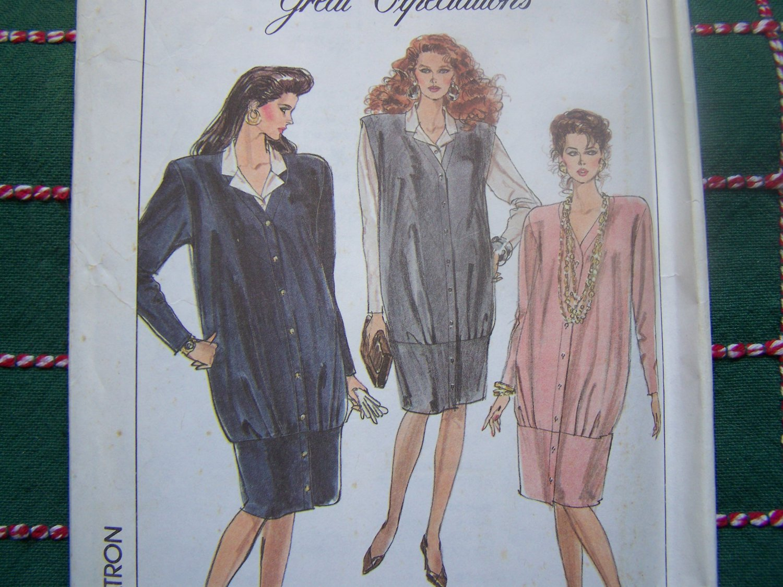 0 S&H USA Uncut Vintage Maternity Sewing Pattern 8926 Misses 16 Jumper Dress Blouse