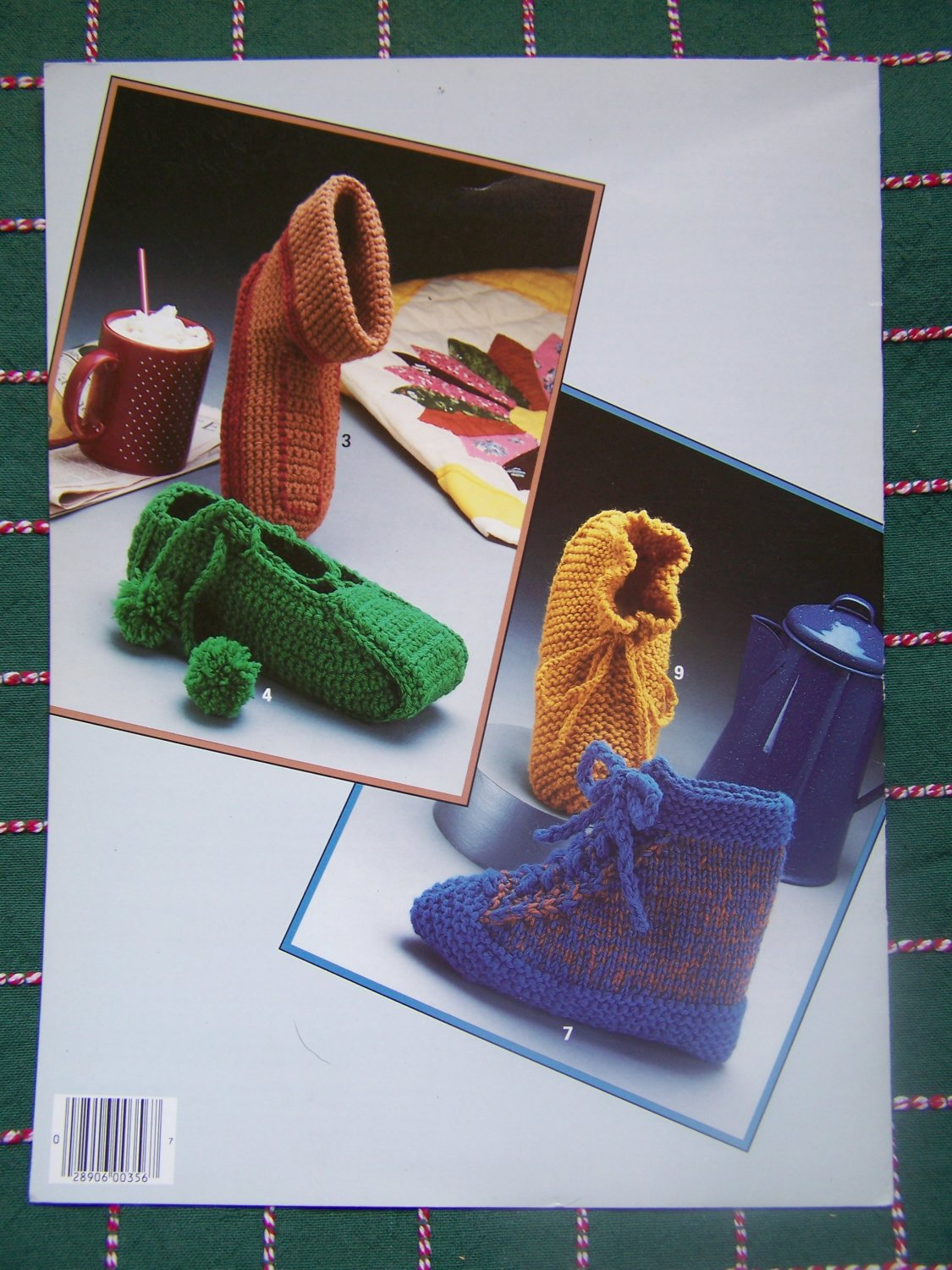Vintage Knitting & Crochet patterns 9 Kids Womens House Shoes Slippers Booties S M L