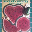 Vintage Rag Fabric Crochet Rug Patterns Country Kitchen Watermelon Rugs