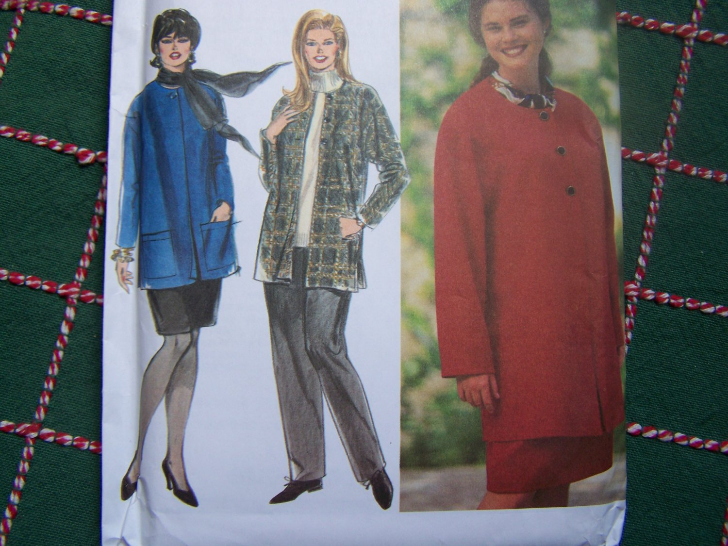Free USA S&H New Womens Plus Size Sewing Pattern 9787 Jacket Pull on Pants or Skirt 18 20 22 24W