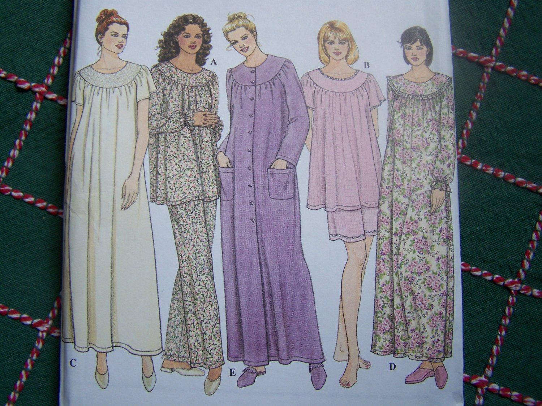 USA 0 S&H New Sewing Pattern 9012 Misses L XL Sleepwear Pj Top Shorts Pants Nightgown Nightie Gown