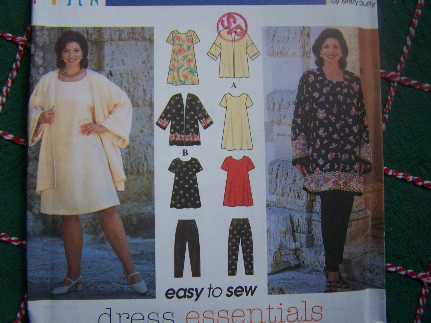 USA Free S&H New Womens Sewing Pattern 7153 Dress Top Jacket Pull On Pants 18 20 22 24
