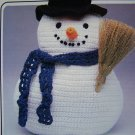 0 USA Shipping Vintage 80's Annie's Crochet Pattern Christmas Snowman 12 Inch