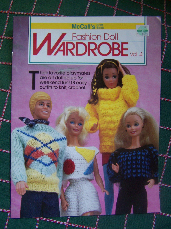 18 Vintage Barbie & Ken Knitting & Crochet Patterns McCall's Fashion Wardrobe 4
