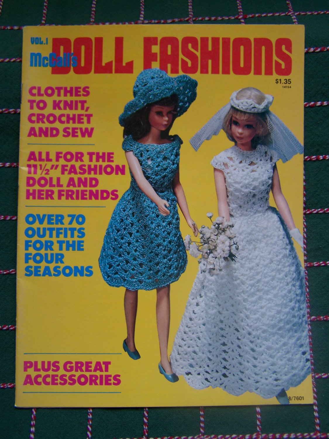 Vintage 1970's Over 70 Barbie Crochet Knitting & Sewing Patterns McCalls Doll Fashions 1