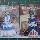 2 Vintage Crochet Pattern Books Holiday 15 In Doll Clothes 1 & 2 855 856
