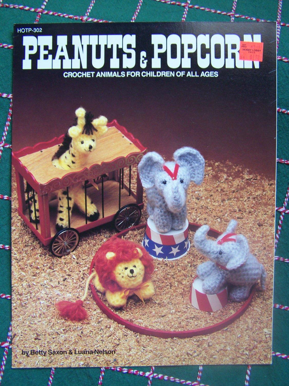 Free USA S&H Vintage Crochet Patterns Circus Stuffed Animals Giraffe Elephant Lion