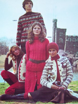 11 Vintage 1970's Unger Knitting Patterns Men & Womens Sweaters Cardigans Pullovers 105