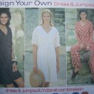USA Free S&H Uncut Sewing Pattern 9407 Misses Dress & Jumpsuit 18 20 22 24 Raised waist
