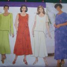 S&H Free USA New Women's Uncut Sewing Pattern 5432 Dress Overblouse Skirt Plus Size 28 30 32W