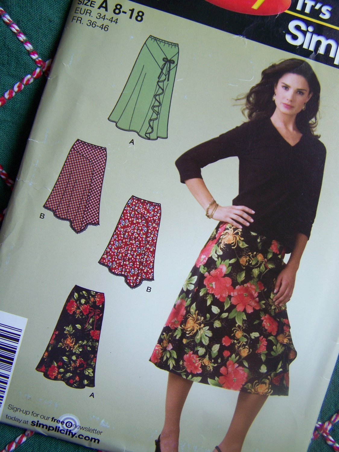 USA Free S&H New Misses Bias Skirts Sewing Pattern 4016 Flounce Full 8 10 12 14 16 18