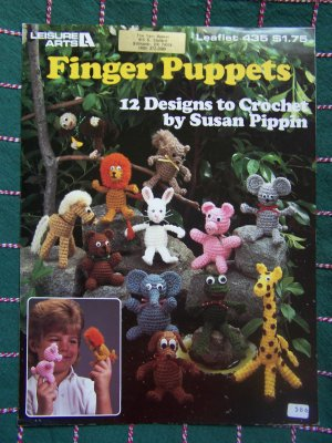 Almost Unschoolers: Crocheted Finger Puppets - A Princess and Her