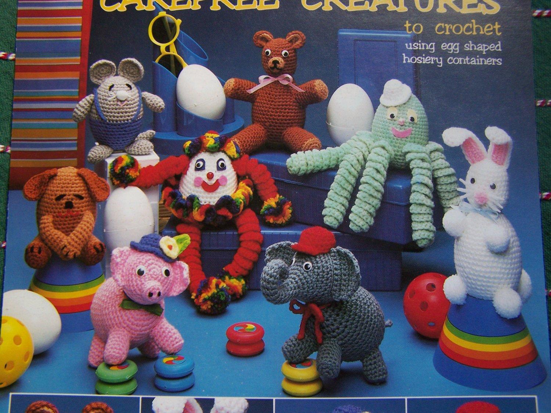 USA Free S&H Vintage Crochet Stuffed Animals Patterns