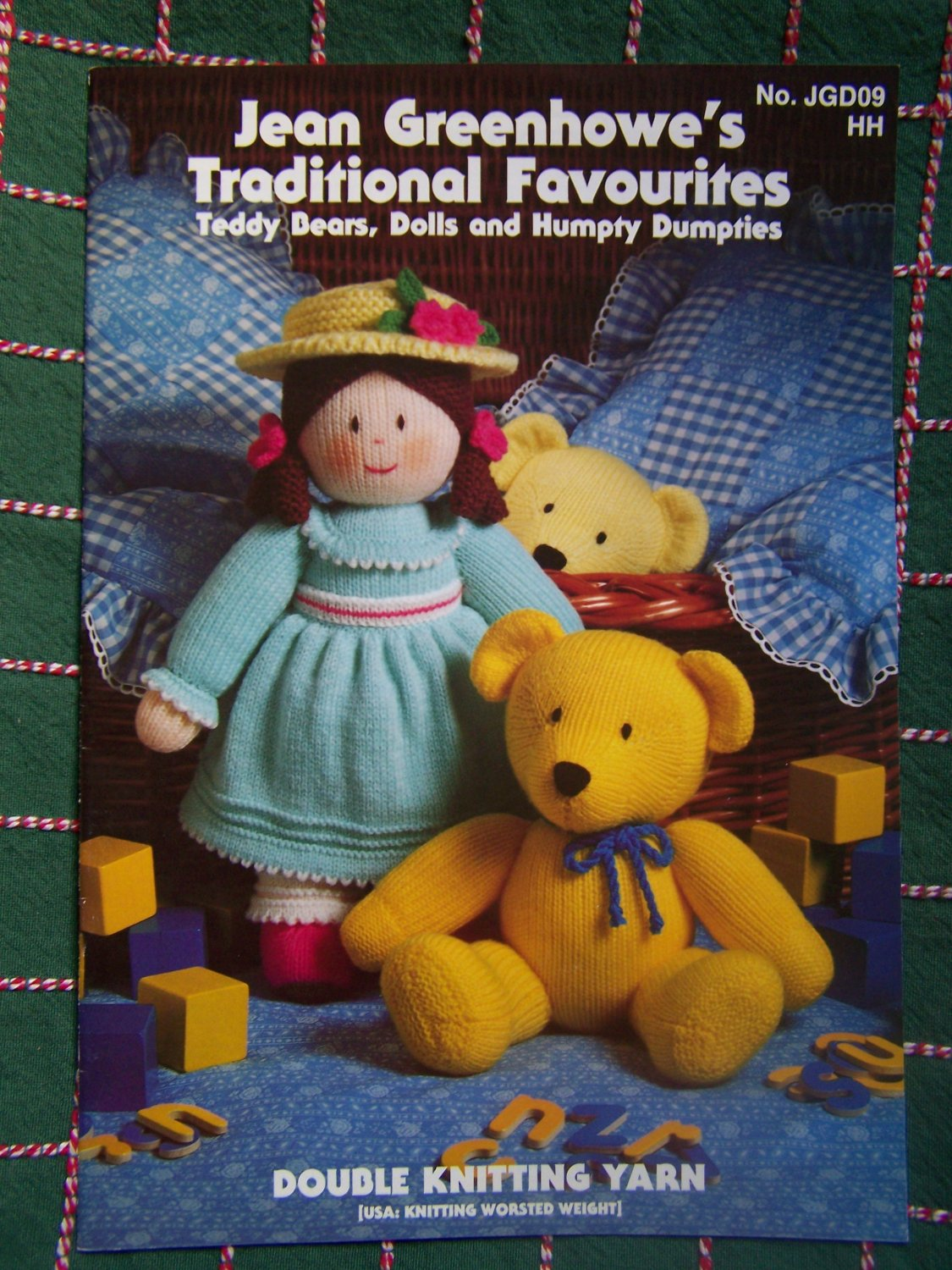 Jean Greenhowe's Traditional Favourites Knitting Patterns Teddy Bears Dolls Humpty Animals
