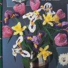 Vintage Crochet Patterns Long Stem Tulips Iris Daffodil Pineapple Bell Free USA S&H